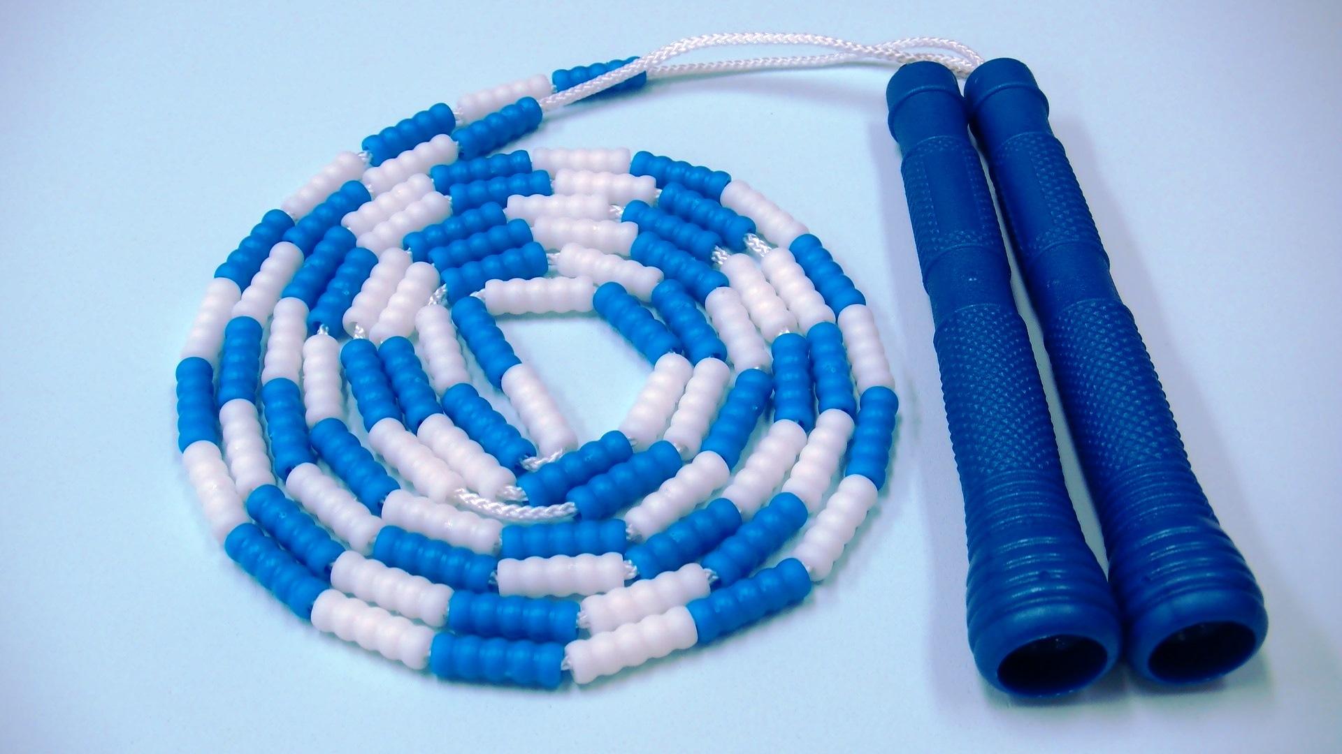 ビーズロープ<ブルー>